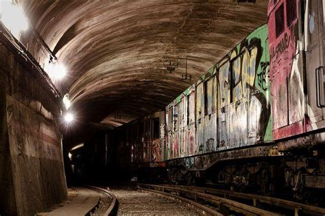 abandoned ghost trains   paris metro urban ghosts