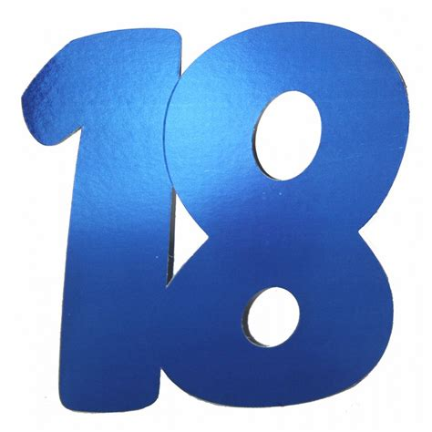 cutouts number 18 blue 3 pk letters and numbers patterns shop by theme party supplies
