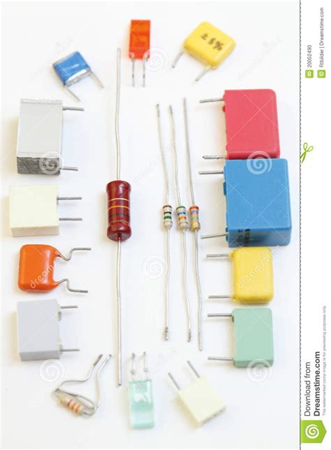 electronic parts resistors capacitors electronic components stock photo image 20052490