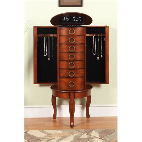 powell cherry jewelry armoire powell jewelry armoire in woodland cherry 605 318