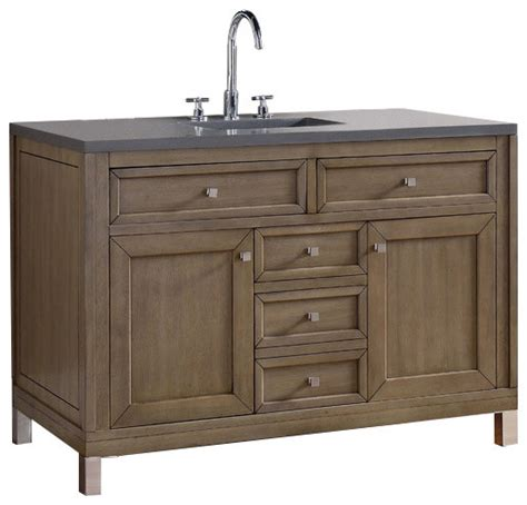 James Martin Furniture Chicago 48 Quot Single Vanity White Bathroom Vanities Chicago