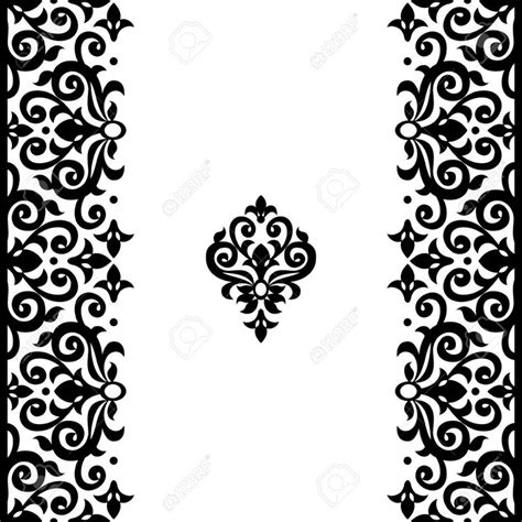 black victorian pattern black and white victorian pattern vector
