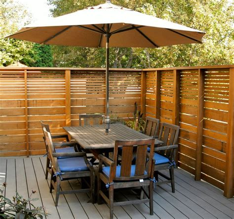 patio fence designs modern privacy fence ideas for your outdoor space