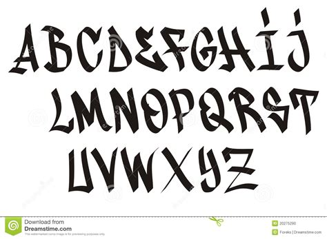 gangster graffiti fonts sample letters alphabet tattoo