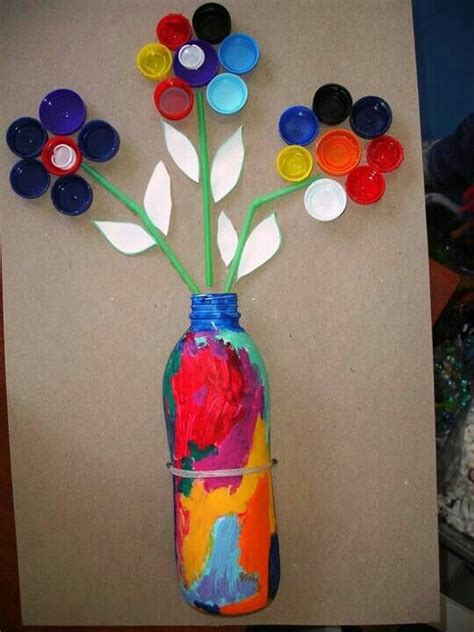craft items from waste material for jarr 243 n con flores manualidades