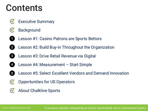 5 Lessons Learned Companies by 5 Lessons Learned Integrating An Sports Book Into