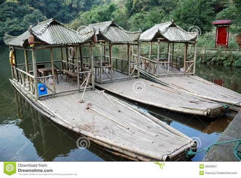 bamboo boat bamboo boats stock image image of culture garden beech