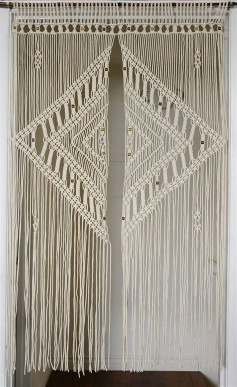 macrame curtain 9 diy patterns for macram 233 curtains inhabit zone