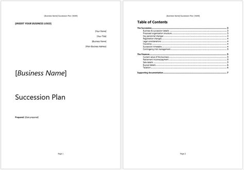 Business Succession Plan Template And Guide Clickstarters Succession Plan Template And Guide