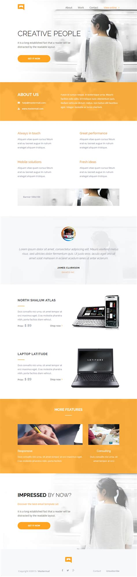 best responsive templates 5 best email newsletter template responsive miracle
