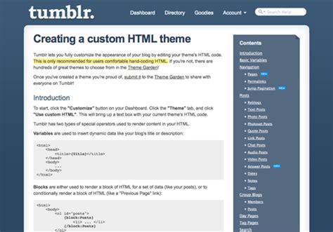 custom tumblr themes free html a complete guide to tumblr smashing magazine