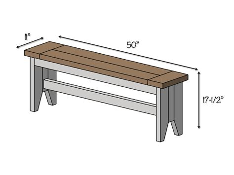 standard seat depth diy farmhouse bench free plans rogue engineer