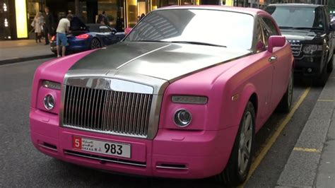 roll royce pink matte pink rolls royce spotted in london