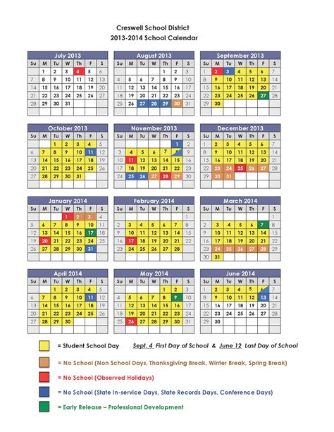 2014 school calendar template 8 best images of printable 2013 14 school calendar 2013