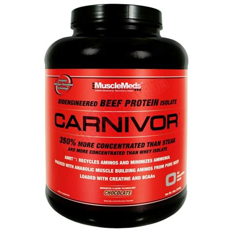 Carnivor Isolate Musclemeds 4 6 Lbs carnivor by musclemeds beef protein isolate big brands