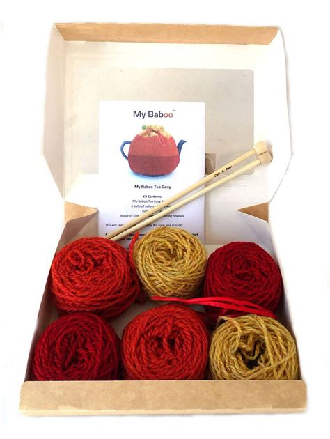 Kit Green Tea Original tea cosy knitting kit by my baboo notonthehighstreet