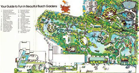 Busch Gardens Park Map by Theme Park Brochures Busch Gardens Theme Park Brochures