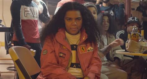 young ma lets her hair down to flex bossip video young m a get this money rap up rap up