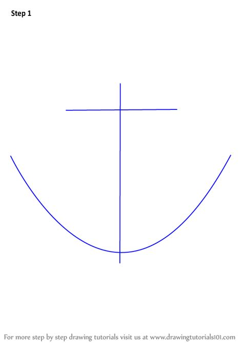 boat shape drawing learn how to draw a boat anchor boats and ships step by