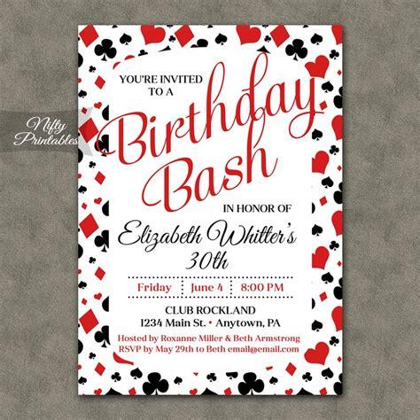 free templates for casino invitations casino poker birthday invitations nifty printables