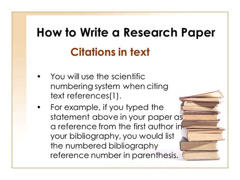 how to write a paper with citations how to write a research paper ppt