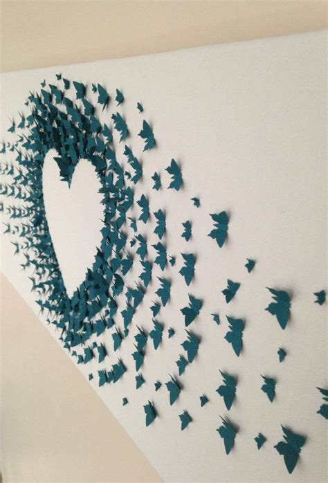 Paper Craft Wall Decorations - diy paper butterfly wall interior design blogs