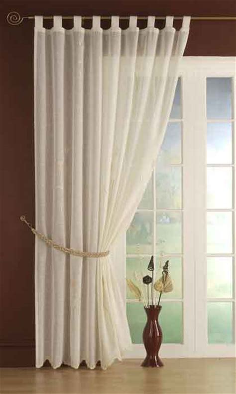 Tie Top White Curtains Voile Curtain Panels