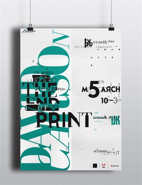 The End Of Prints by The End Of Print By David Carson Poster By Wildan Ilham