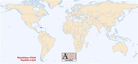 world map haiti location world atlas the sovereign states of the world haiti