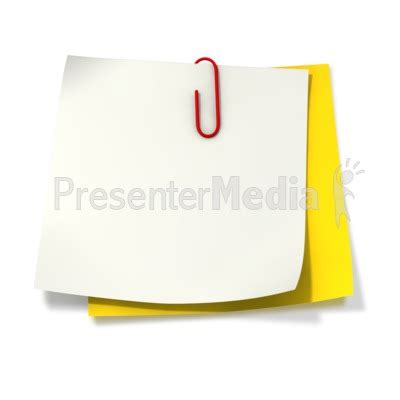 attached note card template paper clip attached to two sticky notes signs and