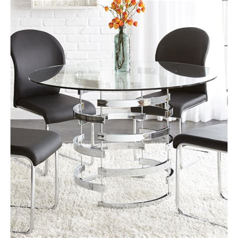 silver kitchen table steve silver tayside glass top dining table in black