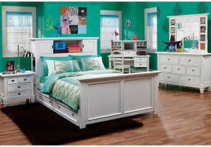Teen Bedroom Sets Belmar White 6 Pc Full Bookcase Bedroom Bedroom Sets White