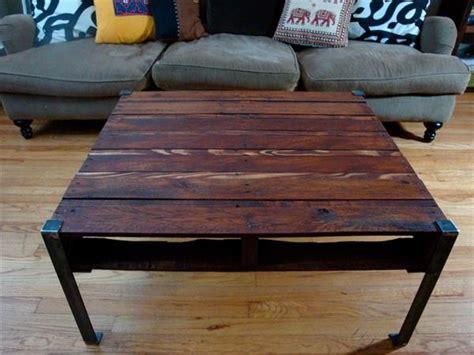 diy wood table with metal legs diy pallet wood table with steel legs pallet furniture plans