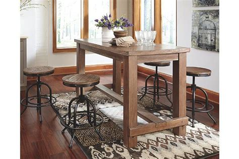 Dining Room Table Light Height Light Brown Pinnadel Counter Height Dining Room Table View