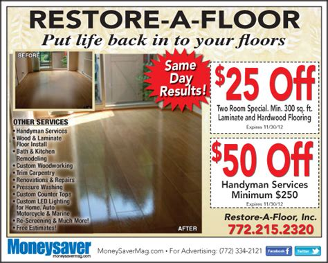 Restore A Floor by Coupons For Restore A Floor Living Magazines