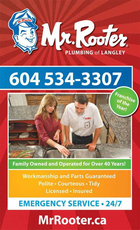 24 7 Rooter And Plumbing by Mr Rooter Plumbing Of Langley Langley Bc 26522 33 Ave