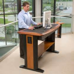 Small Table For Standing Desk Office Workers Should Stand For At Least Two Hours A Day
