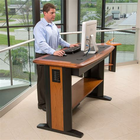 adjustable standing desk workstation sitting all day can be terrible for your health we have