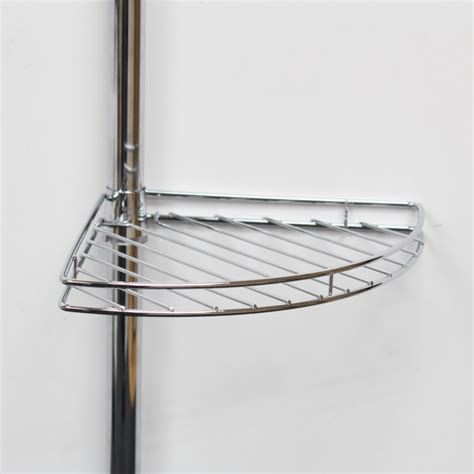 Metal Corner Shelf metal corner shower bathroom tidy basket caddy shelf storage shelves organiser ebay