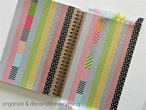 washi tape notebook organize  decorate