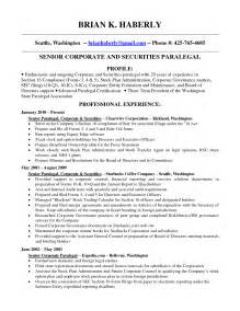 Examples Of Paralegal Resumes Paralegal Resume Format By Brian K Haberly Writing