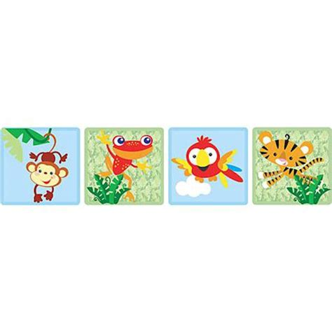 fisher price wall stickers fisher price rainforest border