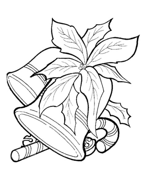 printable xmas scenes christmas bells coloring pages coloring home