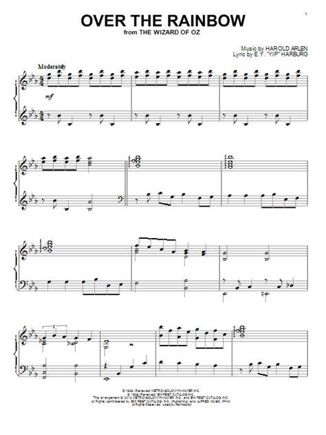 tutorial piano over the rainbow over the rainbow sheet music by harold arlen piano 99974