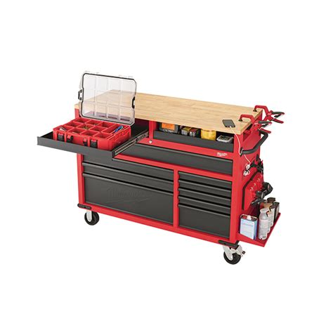 milwaukee saw bench milwaukee 52 quot mobile work bench review tool box buzz