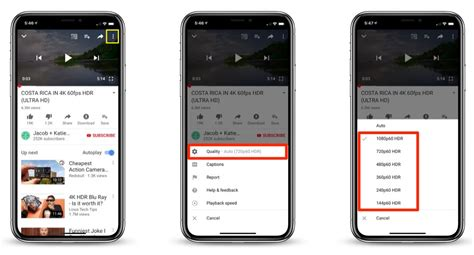 youtube ios app update brings hdr support  iphone xs