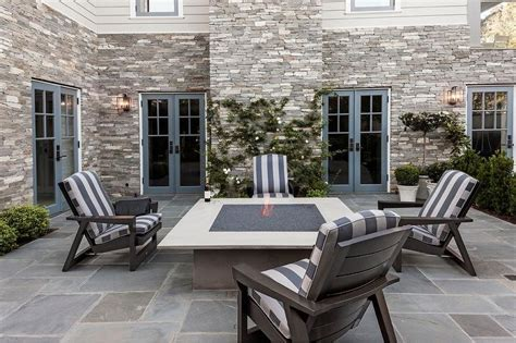 gas pit with adirondack chairs patio square concrete pit with gray adirondack
