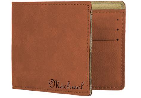 Leather Wallet Vegtan personalized wallet vegan leather bi fold s wallet