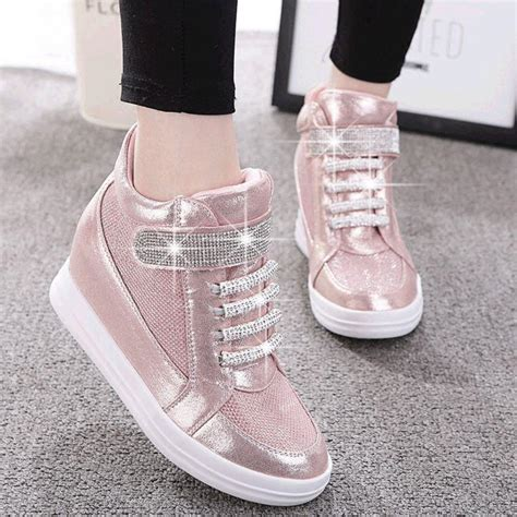 womens high top sneakers part 1 women fashion wedge diamonds high top sneaker sport tennis