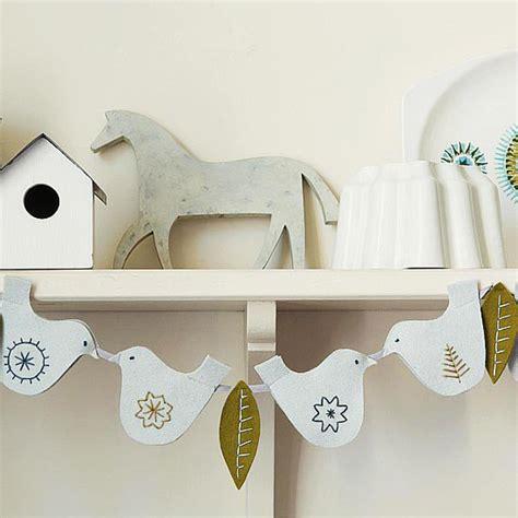 bhg crafts felt dove garland from better homes gardens